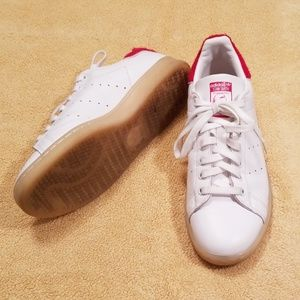 Adidas Stan Smith Red and White Sneakers in 8.5